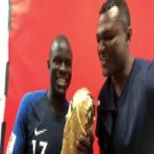 """Kante to Desailly: """"The 1st star on the shirt was you, the 2nd is us!"""""""
