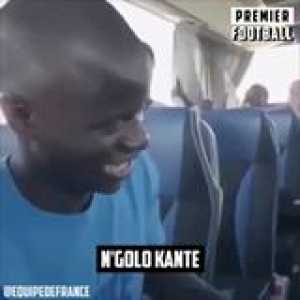You can tell N'Golo Kante is embarrassed by his song because he's so humble 🙌🏼❤️