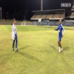 He's still got it...   Impressive from Gianfranco Zola and Charly Musonda after training in Perth! ⚽️👆  📽 Chelsea Football Club