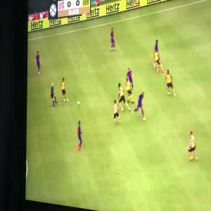 Karius' attempt at a clearance against Dortmund