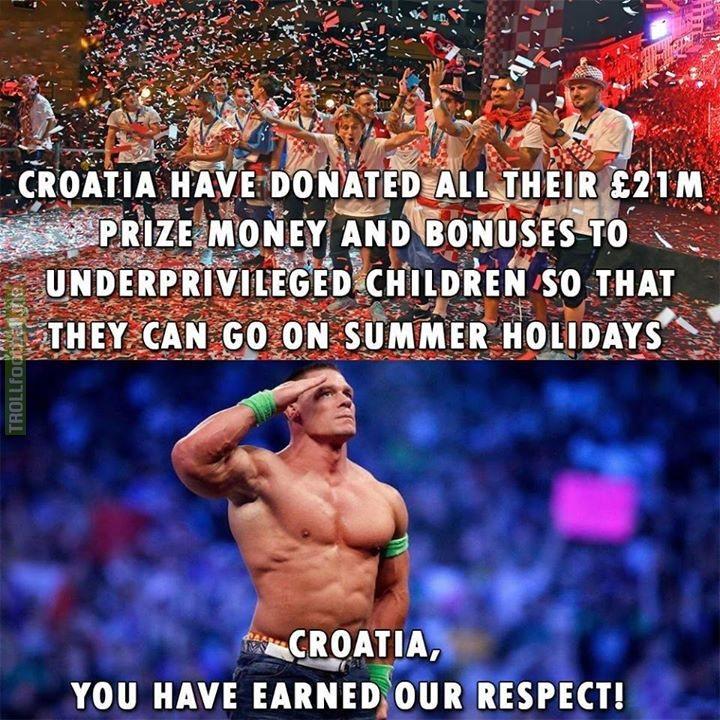 Massive respect to Croatia.