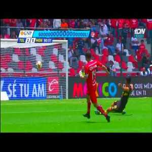 Toluca Scores After Opposing Team Celebrates Offside Goal During Liga MX Match (22/07/18)