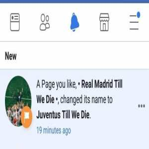 Facebook fan pages for Real Madrid are changing their names to Juventus
