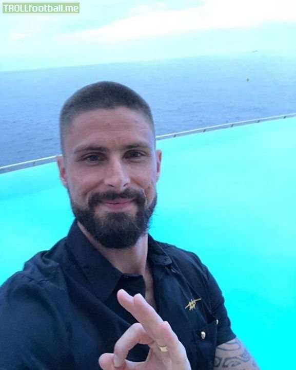 Giroud said he'd shave his head if France won the world cup.  Looks like he's missed the target again.