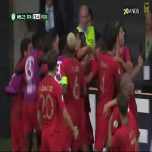 Two years ago, Portugal became European champions with Éder scoring the winning goal at the 109th minute. Today, Portugal became U19 champions with Pedro Correia scoring the winning goal at....the 109th minute