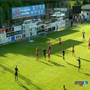 Progrès Niederkorn 1-0 Honved [1-1 on agg.] - Mayron de Almeida 21'