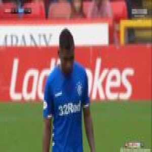 Alfredo Morelos (Rangers) straight red card against Aberdeen 12'