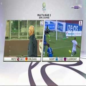 Florian Aye Goal - Niort 1 vs 2 Clermont
