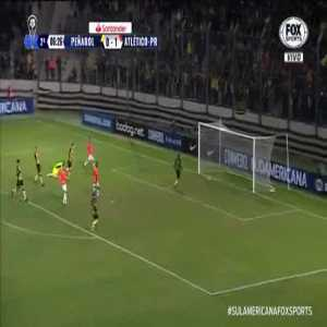 Atletico Paranaense player celebrates goal by commiting suicide.