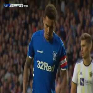 Rangers [2]-1 Maribor - James Tavernier penalty 50'