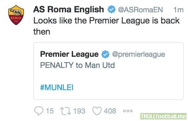 Roma's Twitter has reached legendary status 😂😂😂😂
