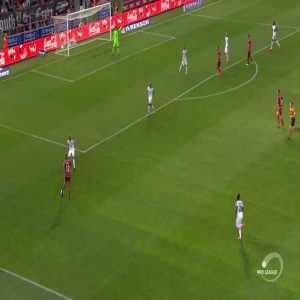 Fantastic rabona goal from outside the box by Hicham Faik (Zulte Waregem [3] - 0 Eupen) in the Belgium Pro League