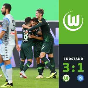 Full-time: Wolfsburg 3-1 Napoli