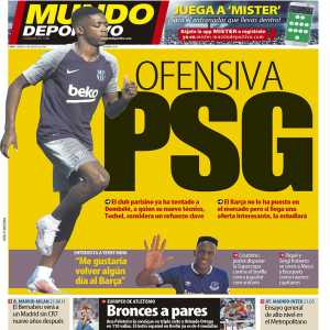 [Mundo Deportivo] Tuchel has convinced Ousmane Dembélé of a move to PSG, Barca has not placed the player on the market but is open to a move if given an interesting offer