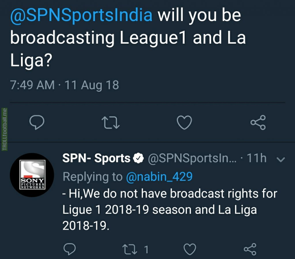 Official - No broadcast of La Liga and Ligue 1 in the Indian subcontinent !