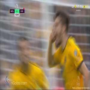 Wolves [1]-1 Everton - Rúben Neves 44' (Free Kick)