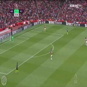 Petr Cech almost scores an own goal