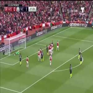 Petr Čech save vs Manchester City free kick