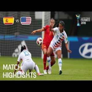 Spain 2-2 USA | FIFA U-20 Women's World Cup France 2018