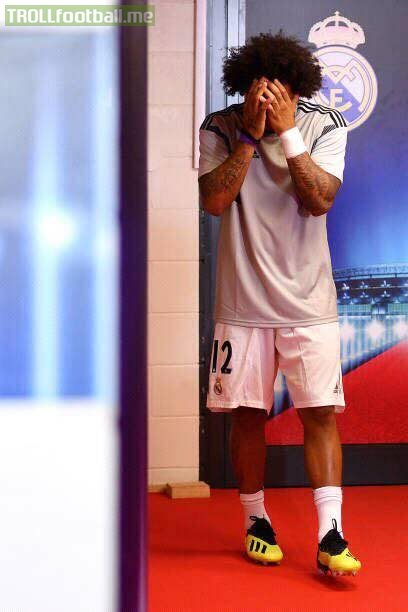 Before the match Marcelo is missing Cristiano 😭💔