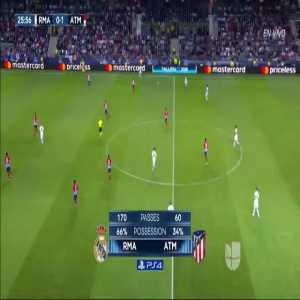 Karim Benzema goal vs. Atletico Madrid (1-1)