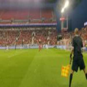 Giovinco's diving header from the side lines (from Canadian Championship, TFC vs Whitecaps)