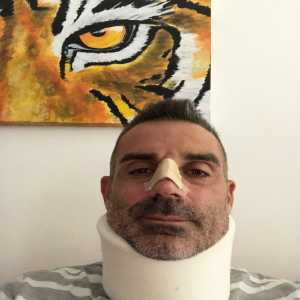 Sorrentino posts photo following collision with Ronaldo
