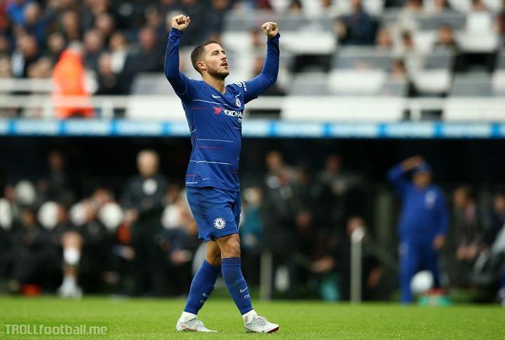 Chelsea's top scorers in the Premier League:  147 - Frank Lampard  104 - Didier Drogba  70 - EDEN HAZARD  69 - Jimmy Floyd Hasselbaink