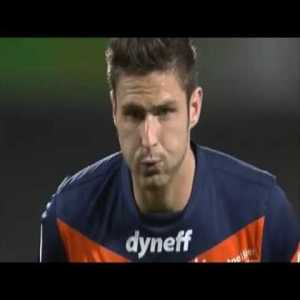 All of Olivier Giroud's league goals in 2011/12, when Montpellier won the league.