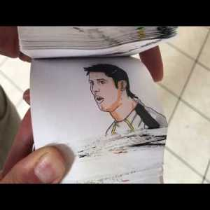Amazing cr7 flipbook animation skill !
