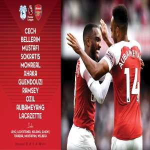Arsenal's Starting XI vs Cardiff: Lacazette will start with Aubameyang