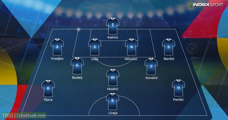 Croatia's lineup for tomorrow's friendly vs Portugal