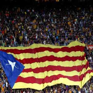 No political symbols will be allowed in the catalan derby between Girona and Barca in the US. Before the match the US/Spanish hymns will be played. 40.000 Spanish flags will also be distributed.
