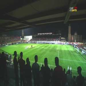 Iraqi Air Force club withdraws from their Arab champions league game vs USM Alger as Algerian fans were chanting for Saddam Hussein