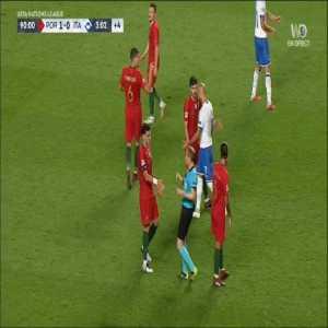 Pepe foul on Federico Chiesa 90'+3' - Yellow card
