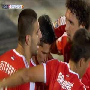 Serbia [2]-1 Romania - Aleksandar Mitrovic 63'