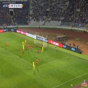 Serbia 2-[2] Romania - George Tucudean 68'