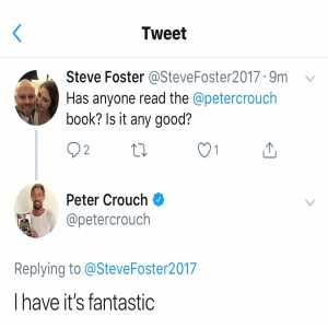 Peter Crouch's book review