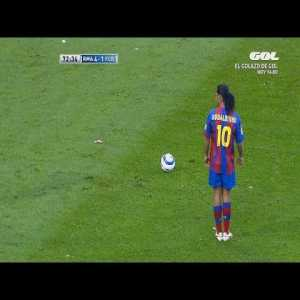 What Messi does? Pure class and skill. What Ronaldinho used to do? Inexplicable