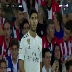 Great pass by Marcelo vs Athletic Club