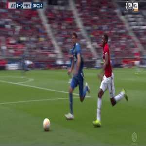 AZ striker Myron Boadu suffers gruesome ankle injury in match against Feyenoord