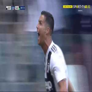 Cristiano Ronaldo goal (Juventus [1]-0 Sassuolo) 49'