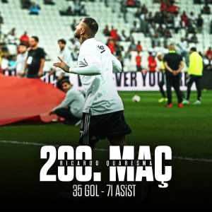 Quaresma played his 200th game for Beşiktaş yesterday. He contributed 106 goals total (35 goals+71 assists)