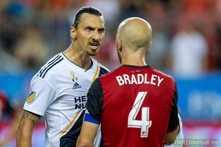 """Zlatan on his argument with Michael Bradley:  """"He thinks he's a philosopher of football. I have more goals than he has"""