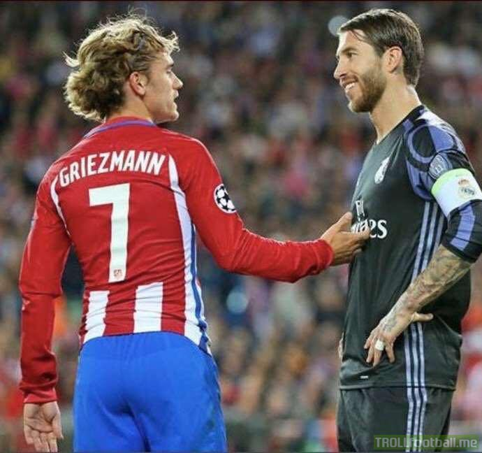 "🗣 ""Griezmann said he's at the level of Messi and Ronaldo? Ignorance is bold. When I hear this kid talking I remember Totti, Buffon, Xavi and Raul who have won everything but don't have a Ballon d'Or. He should take advice from Simeone or Godín who have values.""  - Sergio Ramos."