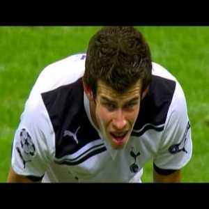 Inter Milan-Tottenham Hotspurs tonight UCL, here are highlights of the 2010 encounter at San Siro featuring a young Gareth Bale hat trick, coming back from 4-0 to 4-3 in the first leg