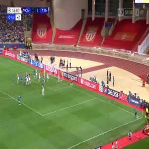 J. Giménez goal (Monaco 1-[2] Atlético) 46'