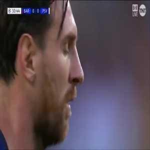 Lionel Messi (Barcelona) goal vs. PSV Eindhoven ([1]-0)