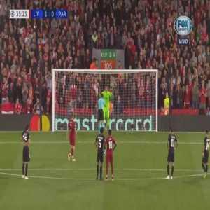 Liverpool 2-0 PSG - James Milner penalty 36' (+ call)