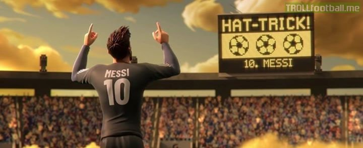 Messi scores a hat-trick. In other news, water is wet ⚽️😂